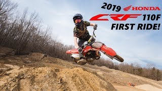 1. 2019 HONDA CRF110F FIRST RIDE!!