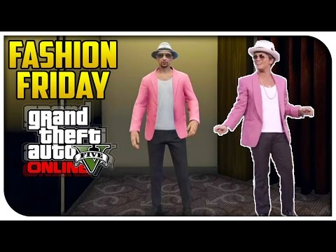, title : 'GTA 5 Online - FASHION FRIDAY! (Uptown Funk, Heavy Commando & John Wick) [GTA V]'