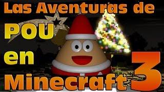 """Pou, la mascota de los smartphones, sigue con sus aventuras en Minecraft. Y lo hace por todo lo alto, en 3D! ¡Bienvenidos a las Pou Adventures!¡No te pierdas el paso de Pou por Minecraft y sus increibles aventuras!En esta nueva aventura Pou vestido de Santa Claus llega cargado de regalos y nos desea unas felices fiestas y feliz navidad!Deja que Pou Noel te mande sus mejores deseos para una Feliz Navidad quedándote hasta el final del video!Suscríbete para más videos!Nombre del mapa: """"Snow Man Tree city"""""""