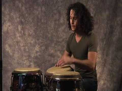 Yoel Del Sol performs solo on congas