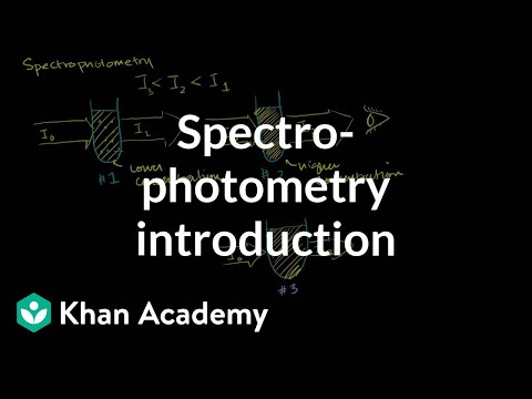 spectrometer - Learn more: http://www.khanacademy.org/video?v=qbCZbP6_j48 Spectrophotometry, Transmittance, Absorbance and the Beer-Lambert Law.
