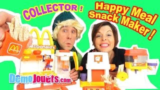 MEGA McDonalds Happy Meal Snack Maker Set ! Special French Fry Maker - Démo Jouets