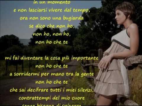 , title : 'Alessandra Amoroso - Non ho che te'