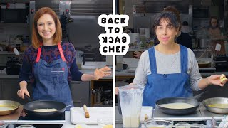 Ellie Kemper Tries to Keep Up with a Professional Chef | Back-to-Back Chef | Bon Appétit