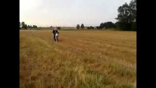 8. Yamaha WR 450F Leo Vince X3 test ride newb learning wheelie