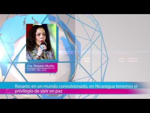 Rosario: en un mundo convulsionado, en Nicaragua tenemos el privilegio de vivir en paz