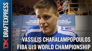Vassilis Charalampopoulos 2015 FIBA U19 World Championship Interview.