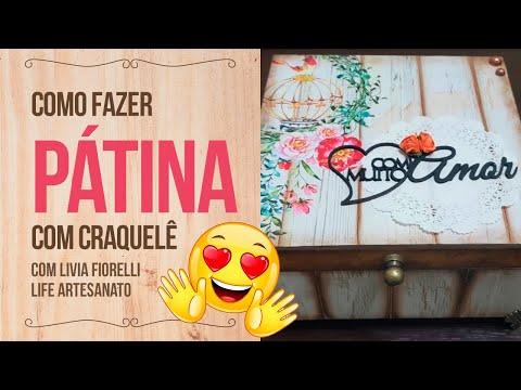 Caixa Pátina com Craquelê