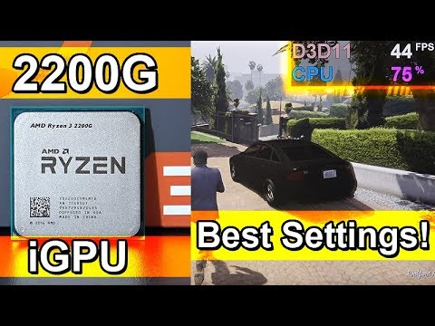 Best Graphics Settings for Ryzen 3 2200G (Integrated Vega Graphics)