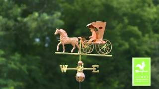 Country Doctor Weathervane - Polished Copper - Good Directions