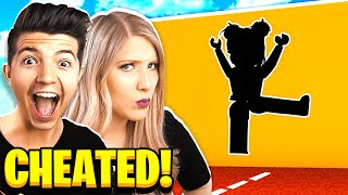 Video I CHEATED! BOY vs GIRL ROBLOX HOLE IN THE WALL CHALLENGE! MP3, 3GP, MP4, WEBM, AVI, FLV Juni 2019