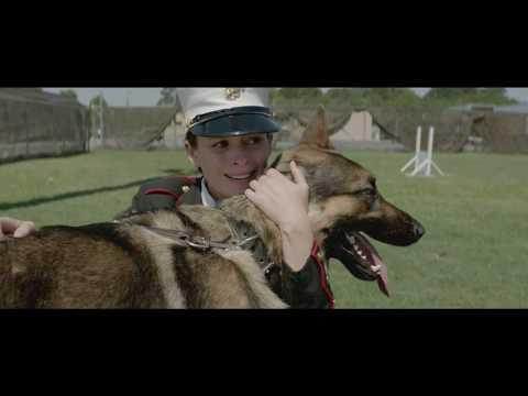 Megan Leavey with Rex at ending scene.