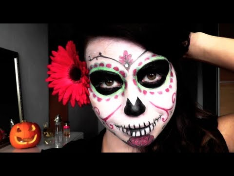 Dia de los Muertos / Day of the Dead Halloween Make up Tutorial