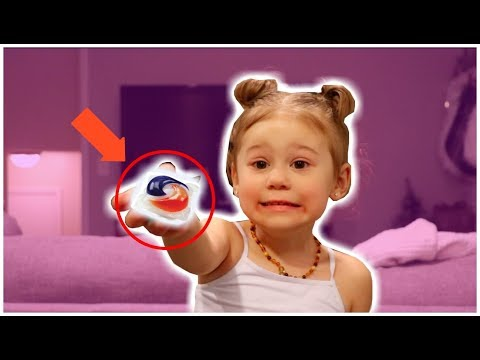 Three year old does the REAL tide pod challenge
