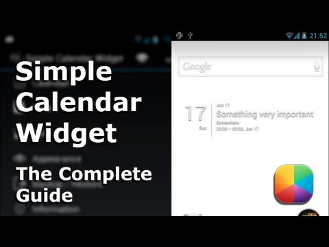 Video of Simple Calendar Widget