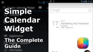 Simple Calendar Widget YouTube video