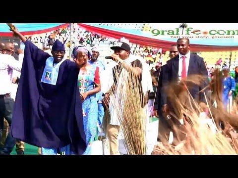 Watch Bola Tinubu Dance with Olamide to Track