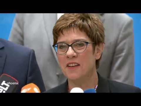 Sachsenwahl: CDU-Chefin AKK und Alexander Dierks (Gen ...