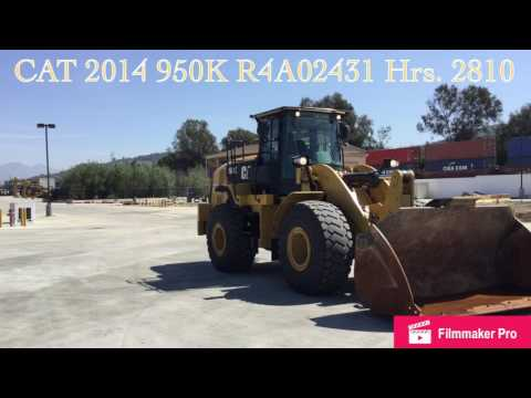 CATERPILLAR WHEEL LOADERS/INTEGRATED TOOLCARRIERS 950K equipment video qc55SG42EHo