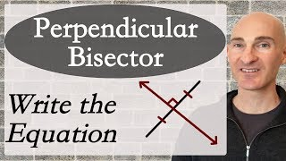 Learn how to find the equation of the perpendicular bisector in this free math tutorial by Mario's Math Tutoring.Looking to raise your math score on the ACT and new SAT? Check out my Huge ACT Math Video Course and my Huge SAT Math Video Course for sale athttp://mariosmathtutoring.teachable.comFor online 1-to-1 tutoring or more information about me see my website at:http://www.mariosmathtutoring.com
