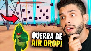 50 DROPS NA CABEÇA!?! DESAFIO NA SALA PERSONALIZADA DO FREE FIRE!