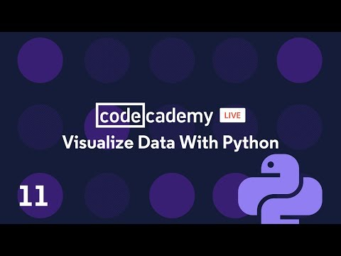 Codecademy Live: Visualize Data with Python #11