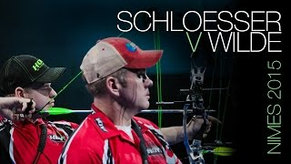 Schloesser v Wilde – archery'sMr Perfect clashes with experienced pro  Nîmes 2015