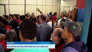 Bauru: grupo invade a Seplan e pressiona o Executivo a realocar famílias que vivem em acampamento
