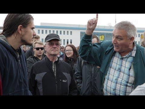 """Chemnitz: Hass am Rande des """"Sachsengesprächs"""""""