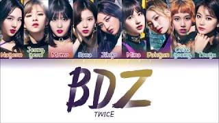 Video TWICE (트와이스) - BDZ (Color Coded Lyrics ENG/日本語歌詞/한국어 가사) MP3, 3GP, MP4, WEBM, AVI, FLV Januari 2019