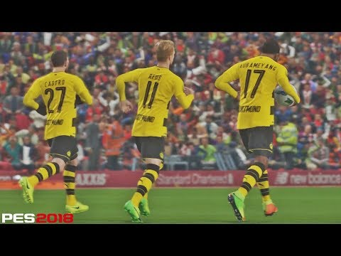 PES 2018 - Liverpool vs B. Dortmund | Anfield | PC Gameplay HD 1080P 60FPS