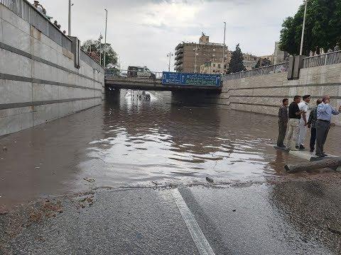 7 مشاهد.. توضح كوارث الأمطار في الشوارع لضعف البنية التحتية