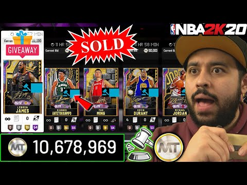 I SOLD ALL MY GOAT GALAXY OPALS AND OPALS TO MAKE MILLIONS OF MT FOR GOAT PACKS IN NBA 2K20 MYTEAM