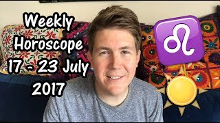 Your weekly horoscope for July 17 - 23, 2017 explaining the daily astrological influences and how to make the most of them! Please share on socials!New Moon in Leo: https://www.youtube.com/watch?v=OjnqW0A_5NAVisit http://www.gregoryscott.com/tarot-astrology for private horoscope, tarot and numerology readings.With love and light, Gregory #horoscope #astrology