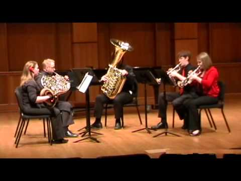 Brass Quintet No. 3 in D Flat Major, Op. 11, by Victor Ewald,  Part 1