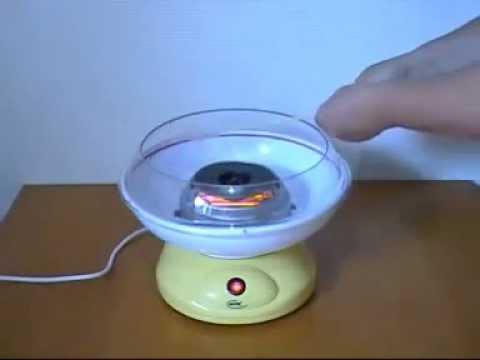 Как сделать сладкую вату на аппарате видео
