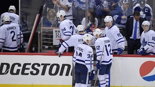 Morgan Rielly and Matt Martin talks about the experience of playing in the playoffs and how a young Maple Leafs team is on the brink of elimination.