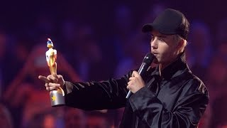 Justin Bieber wins International Male Solo Artist | The BRIT Awards 2016