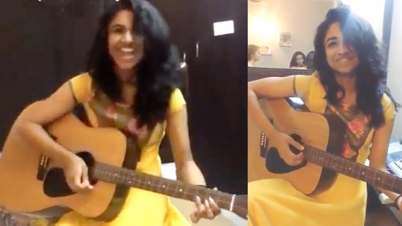 Meenakshi Dileep Playing Guitar – Viral Video