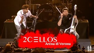 http://www.facebook.com/2Celloshttp://www.instagram.com/2cellosofficial 2CELLOS Luka Sulic and Stjepan Hauser performing Welcome To The Jungle by Guns N' Roses at their historical 5th anniversary concert at Arena di Verona, May 2016Filmed by MedVid produkcijaDirected by Kristijan BurlovicVideo editing by Stjepan Hauser & Ivan StifanicSound by 2CELLOS, Miro Vidovic & Filip VidovicLighting design by Crt Birsa