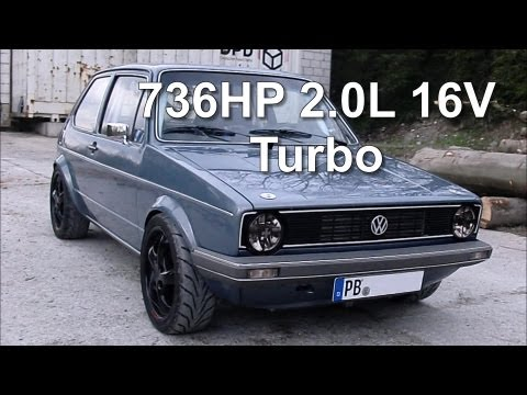 Turbo - VW Golf MK1 2.0L 16V Turbo 736HP on E85 fuel. GTX3582R turbocharger. ECU programmed by Boba my facebook page: https://www.facebook.com/BobaMotoring.