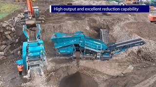 Powerscreen Premiertrak 400X at DG Cummins Civil Engineering