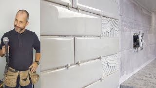 How to Tile Over an Existing Back Splash with Subway Tile