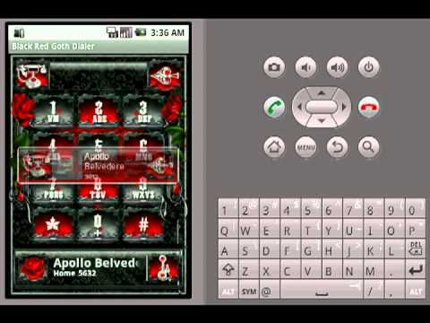 Video of Black Red Goth Dialer