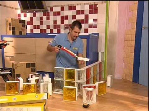 C mo construir una encimera creada con paves bloque de - Colocacion de bloques de vidrio ...