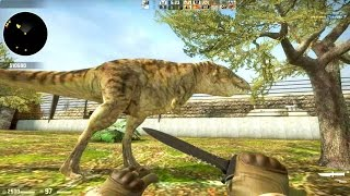 Counter Strike Global Offensive Zombie Escape mod online gameplay on ze_jurassicpark_evolved_ map
