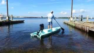 Paddling a Solo Skiff