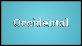 Video shows what Occidental means. An artificial language, once renamed Interlingue in an attempt to compete with Interlingua. Occidental Meaning. How to ...