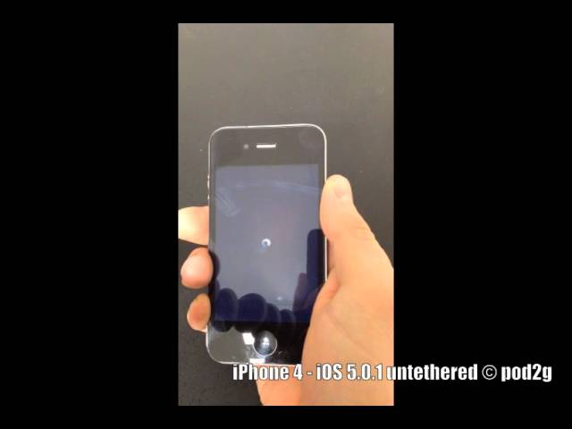 iPhone 4 iOS 5.0.1 untethered © pod2g