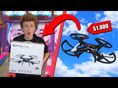 WINNING A DRONE FROM THE ARCADE!